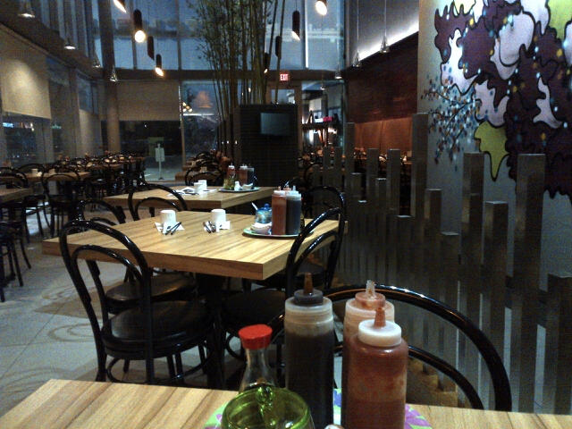 Late night at Spring Roll restaurant in the southside with W, looking for some good food.