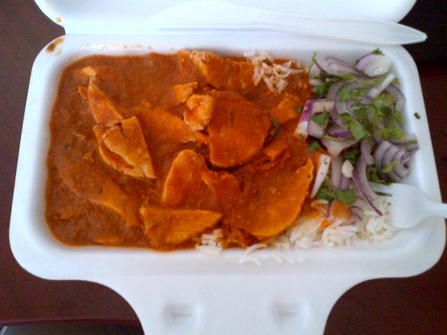 also ran out and grabbed some butter chicken for lunch from local cafe Stir Krazy. Quite satisfying.